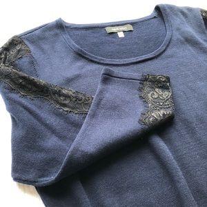 NINE WEST Lace Sleeve, Dress, XL